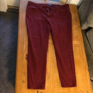 Lucky Burgundy GINGER Skinny Jeans